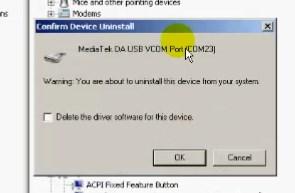 Delete MediaTek PreLoader USB VCOM Port