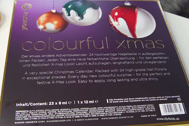 youstar Nagellack Adventskalender Colourful X-MAS - unboxing