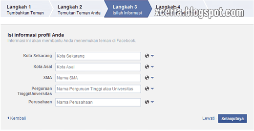 Cara Membuat Facebook - Informasi Profil
