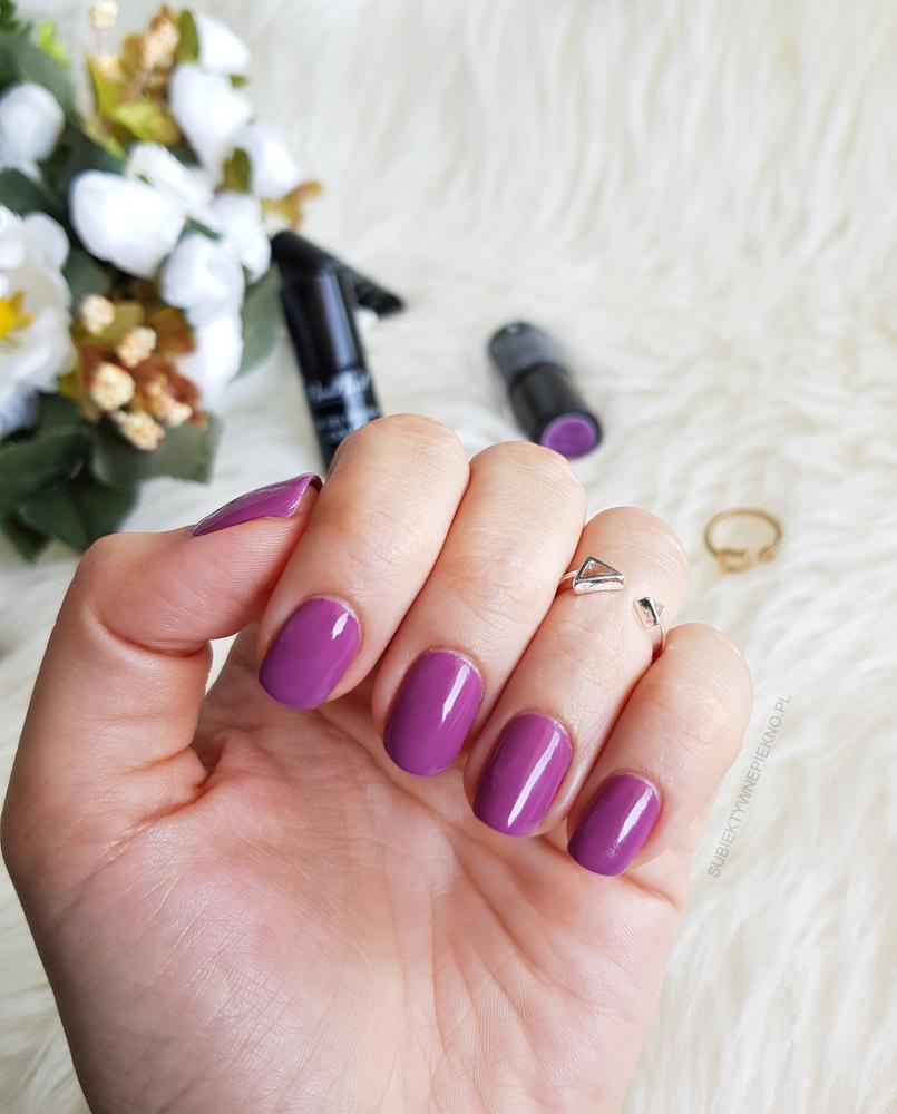 Lakier hybrydowy Violet Garden NeoNail z kolekcji Boho - swatche na paznokciach