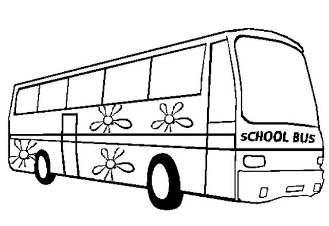 Gambar Mewarnai Bus Sekolah - 8