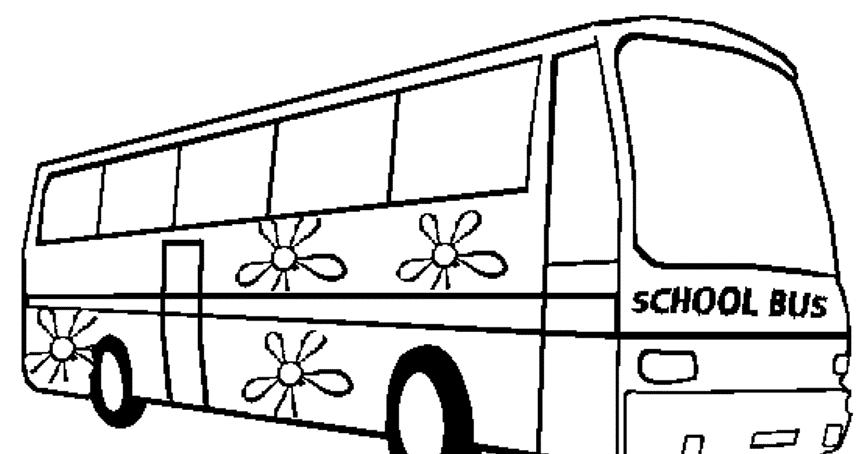 Photokabalfalah Gambar Bus Untuk Mewarnai