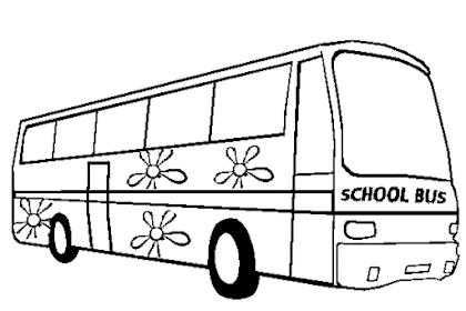 Gambar Bus Untuk Mewarnai