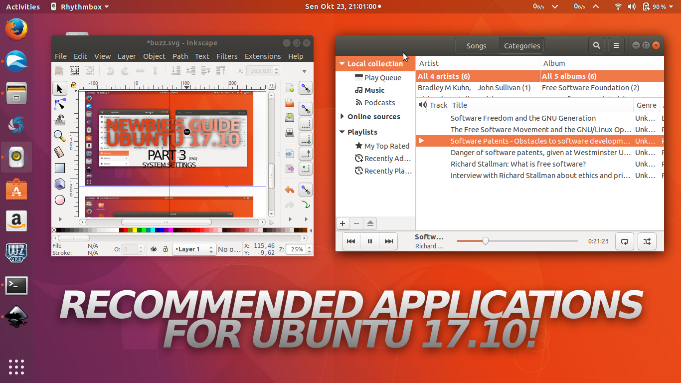 Ubuntu Buzz !: Recommended Applications for Ubuntu 17 10