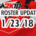Roster Update 1/23/18 [FOR 2K18]