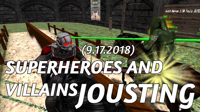 DDA MONDAY FUNDAY JOUST In Second Life (9.17.2018) • Superheroes Jousting