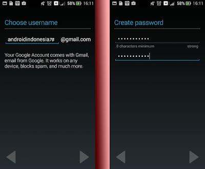 akun gmail baru android