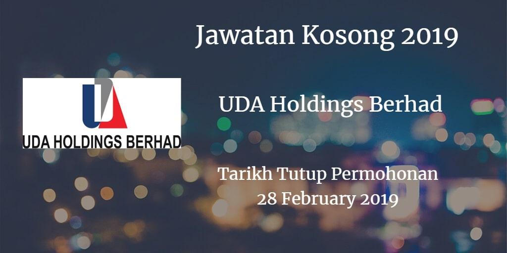 Jawatan Kosong UDA Holdings Berhad 28 February 2019
