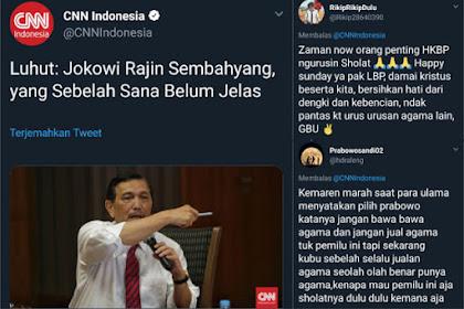 Jokowi Rajin Sembahyang, yang Sebelah Sana Belum Jelas, Begini Tanggapan Warganet