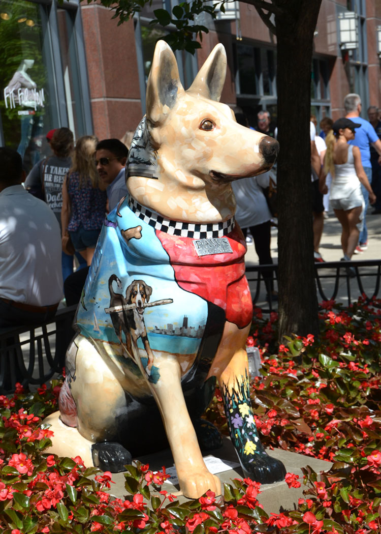100 police dog statues for K-9s for Cops