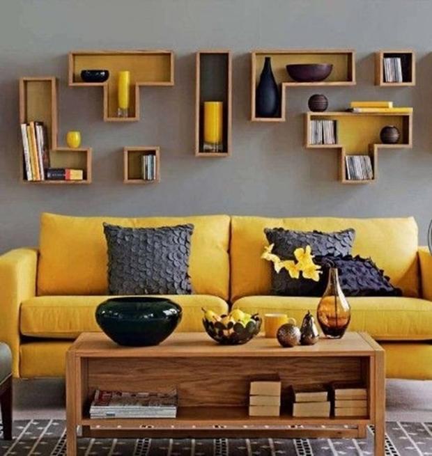 decoração com tetris