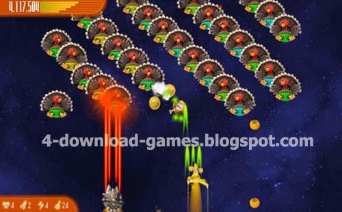 تحميل لعبة حرب الفراخ Chicken Invaders 4 Thanksgiving