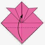 Bước 6: Gấp góc dưới cùng lớp giấy lên phía trên.