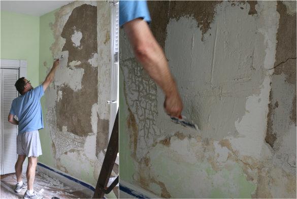 restoring plaster walls bringing stephanie 39 s room back to life 17 apart. Black Bedroom Furniture Sets. Home Design Ideas