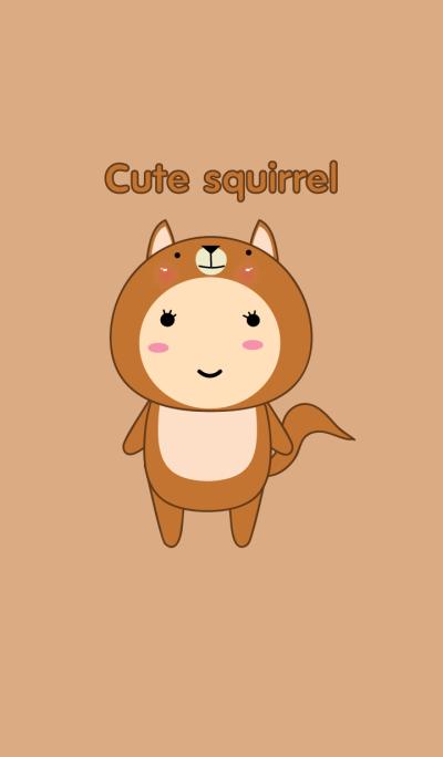 Simple Girl Cute squirrel theme