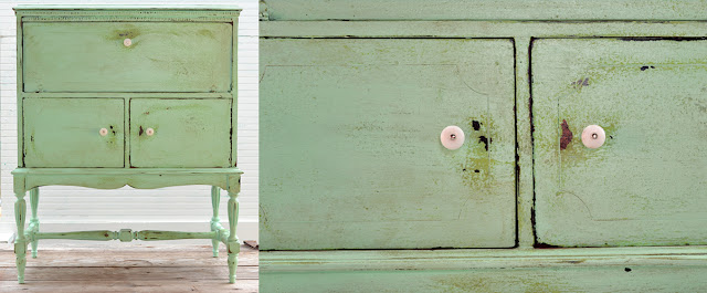 paint, upcycle, flipping furniture, texture, green cabinet