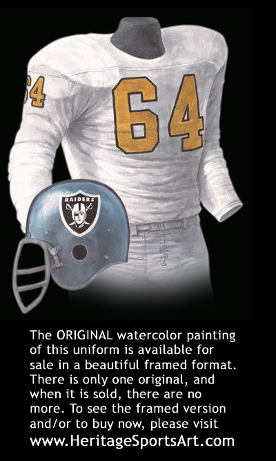 Oakland Raiders Uniform and Team History  b7c23b811