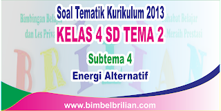 Download Soal Tematik Kelas 4 SD Tema 2 Subtema 4 Energi Alternatif dan Kunci Jawaban