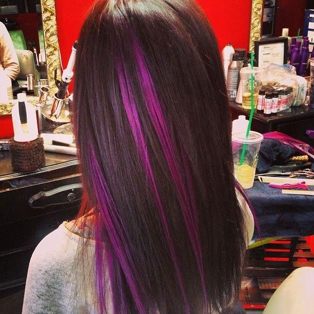Pleasing Black Amp Purple Hairstyles A Gorgeous Combination Hairstyles For Women Draintrainus