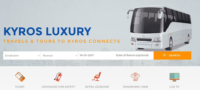 kyros connects new luxury ac bus services between tourist destianitons of kera