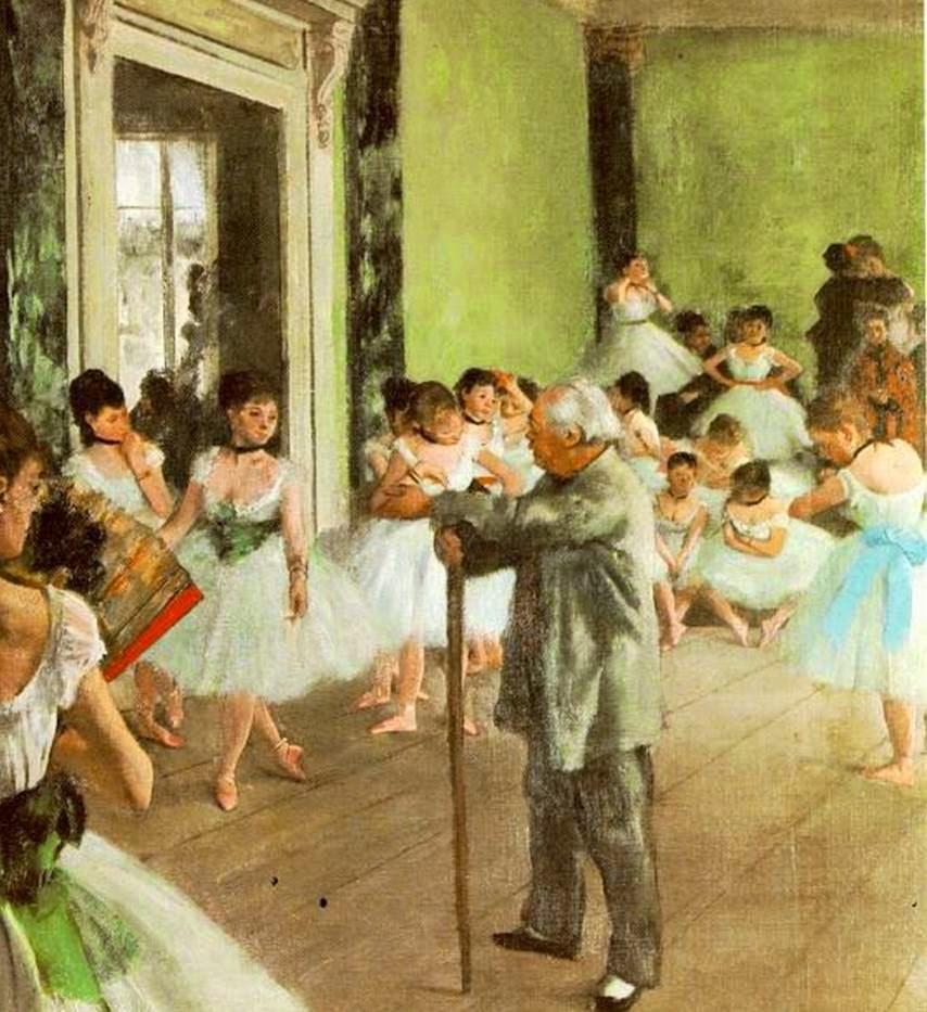 HISTORIA DEL ARTE : temas, imágenes y comentario: DEGAS. Clase de danza