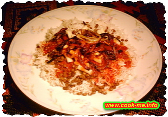 Rice with Lentils - Kosheri