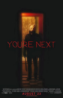 Youre Next horror movie review poster horror slasher killer in animal mask