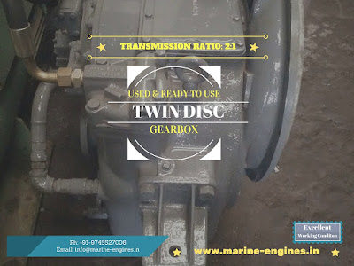 Twin disc, 2:1 Ratio, Transmission, marine engine, gearbox, used, running, condition, ready to use, removed from, excellent reusable