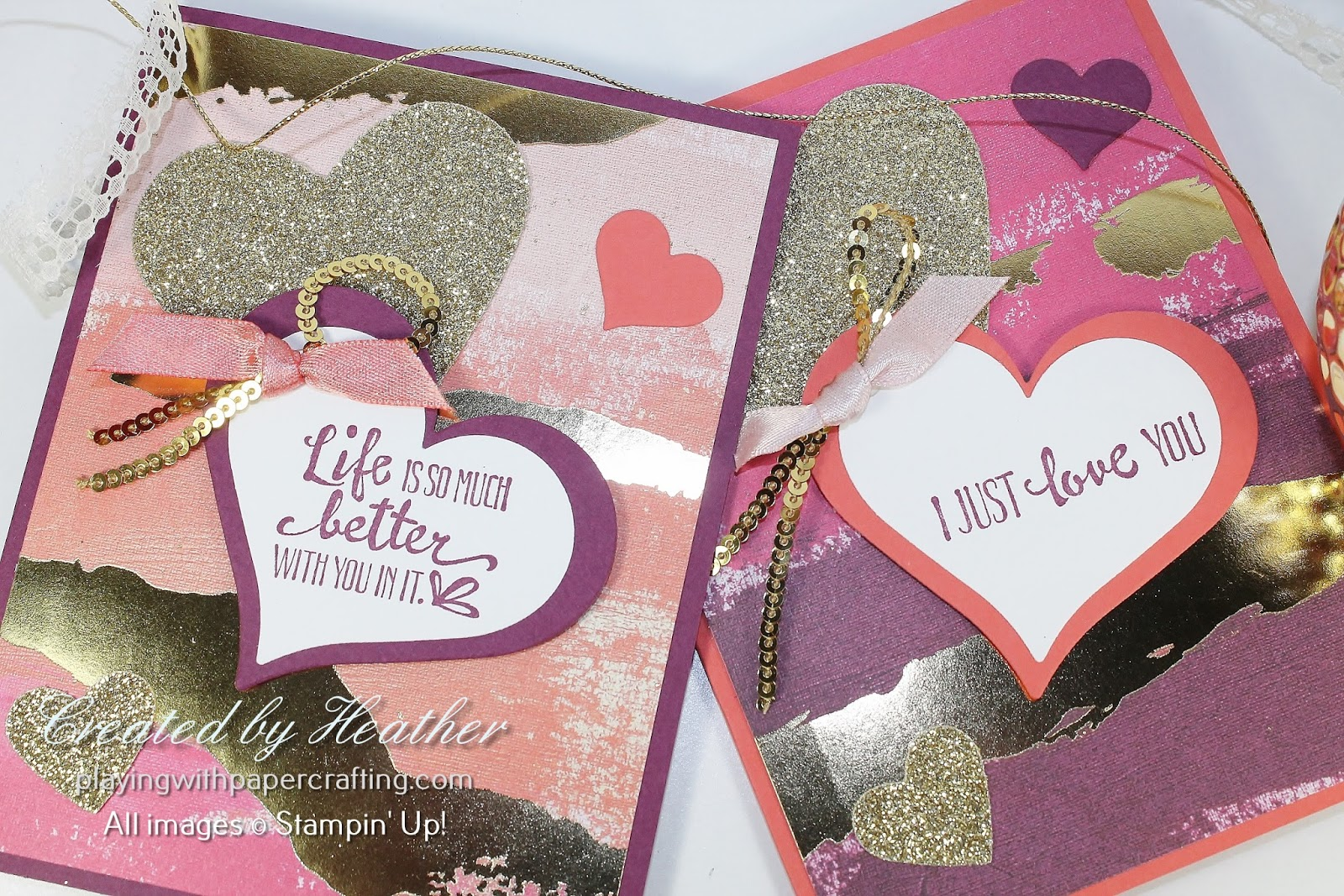 Playing with Papercrafting: Painted with Love Valentines