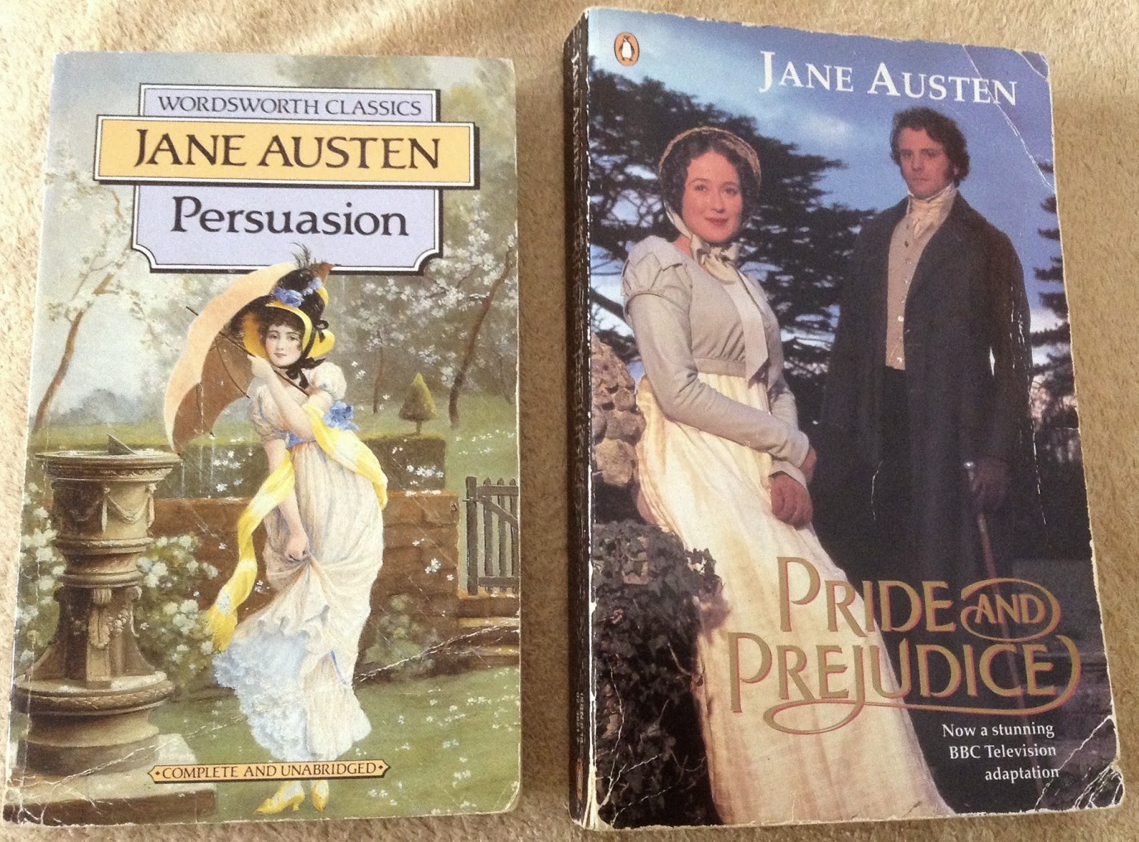 My old Austen covers