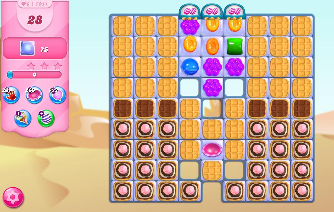Candy Crush Saga level 7311