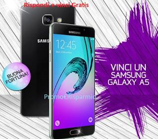 Logo Puoi vincere gratis un Samsung Galaxy A5