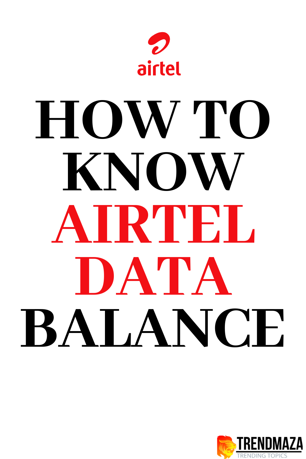 How to know airtel data balance |Bountiful Great Method