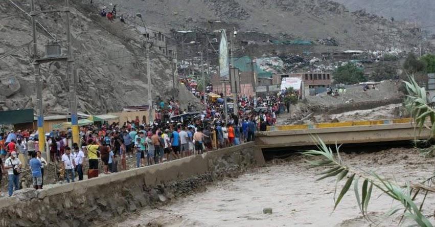 Piden a pobladores de Campoy abandonar sus casas ante eventual caída de un huaico - San Juan de Lurigancho - SJL