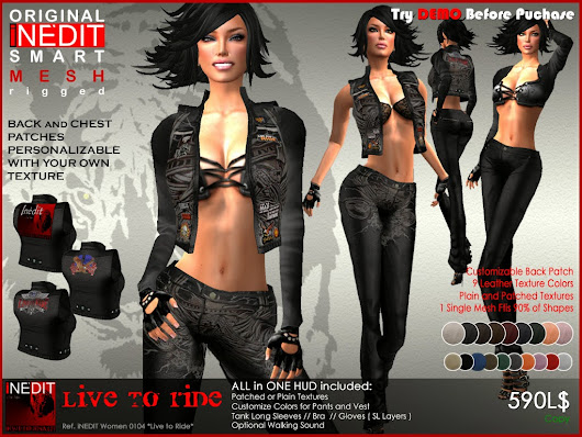 *LIVE TO RIDE* ~ Women Leather Outfit