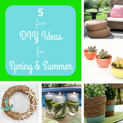 5 fun DIY ideas for spring & summer