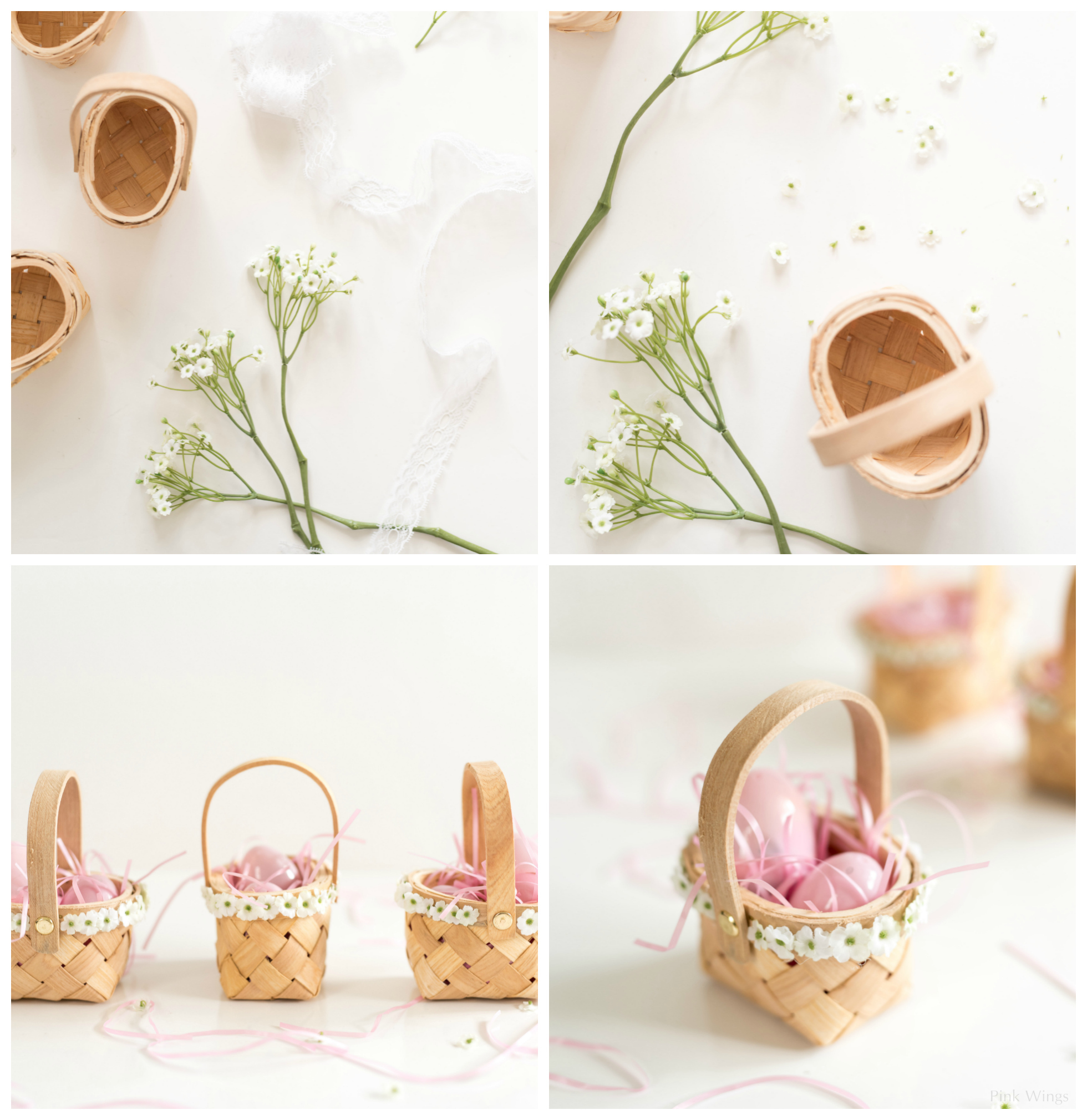 Easter surprise cookies mini flower baskets pink wings easter gift ideas for adults teenagers kinds men friends family negle Choice Image