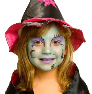 Halloween Witch Face Painting Ideas
