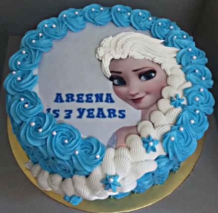 Frozen Hair Braid Birthday Cake (Album 2)  Muffin Kaseh Azean