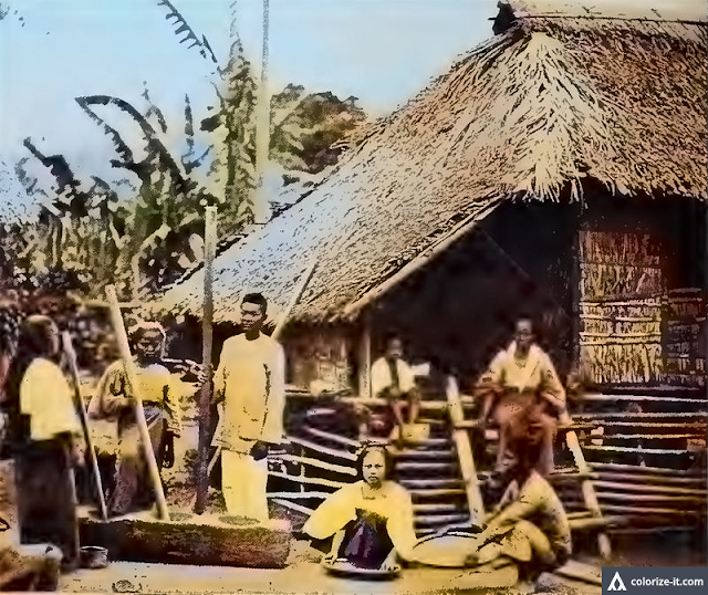 "Extracted from the book ""History and Description of Picturesque Philippines.""  Colorized courtesy of Algorithmia."