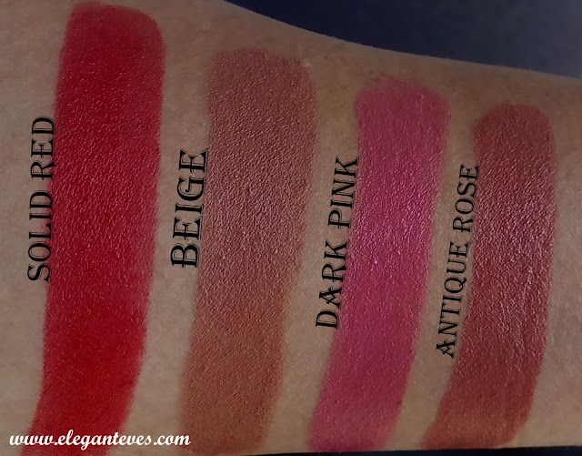 Review of Miss Claire Long Lasting Matte Lipsticks