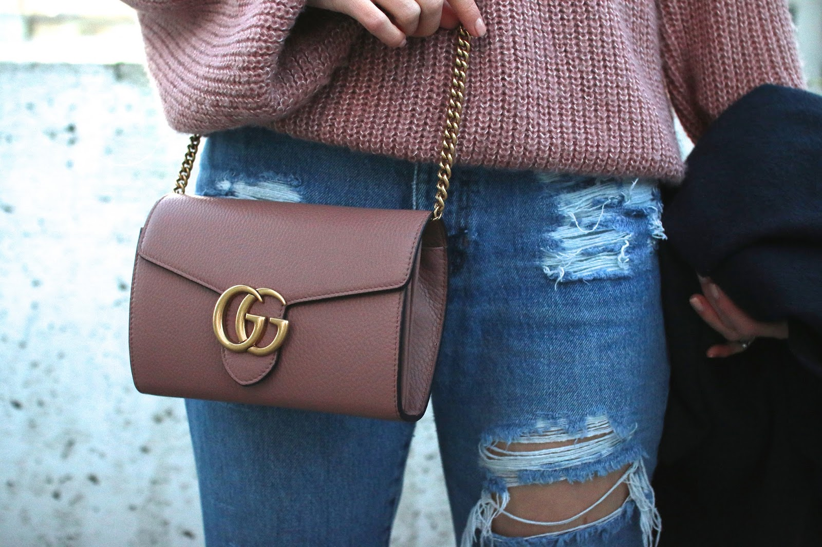 gucci marmont handbag in antiqued rose