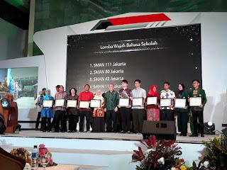 SMAN 110 Juara IV Lomba Wajah Bahasa Kemdikbud