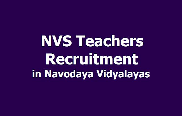 NVS Teachers Recruitment to fill up PGT, TGT, FCSA Posts in Navodaya Vidyalayas 2019