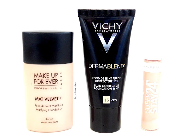 Makeup Forever Mat Velvet Review, Vichy Dermablend Opal Review, Maybelline Super Stay Concealer