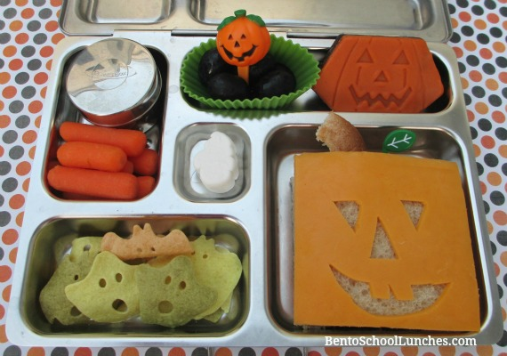 Jack-O-Lantern Halloween bento lunch
