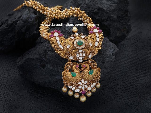 Peacock Pendant Gajjala Haram