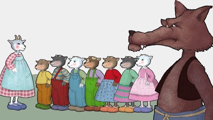 Il lupo e i sette piccoli capretti - Fratelli Grimm