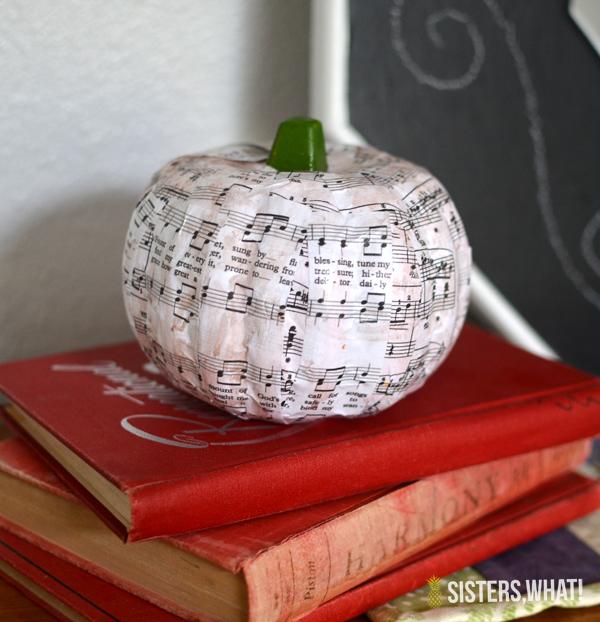 dollar store pumpkin craft