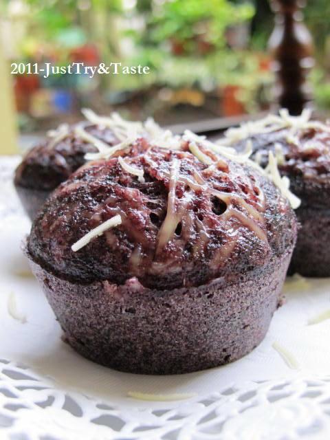 Resep Muffin Kukus Ketan Hitam & Keju JTT